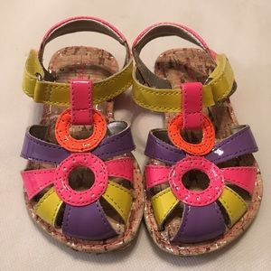 Stride Rite Sandals Sz 5 colorful new no tags